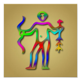 Arco iris de la muestra de la estrella del zodiaco impresiones