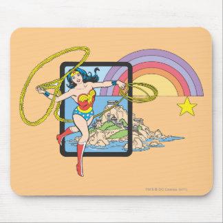 Arco iris de la Mujer Maravilla Tapete De Raton