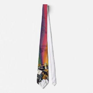 Arco iris de la música del vintage, hombre y corbatas