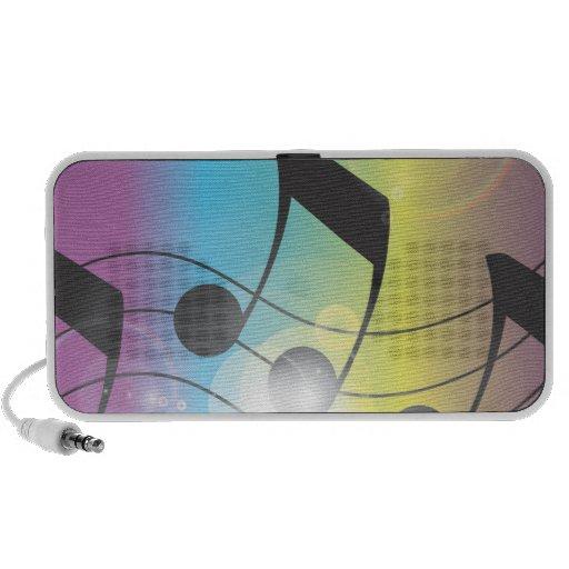 arco iris de la música portátil altavoz