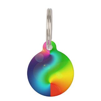 Arco iris de la nebulosa de Spacey Placas De Mascota