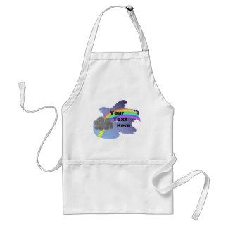Arco iris de la nube tormentosa delantales