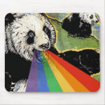 arco iris de la panda alfombrillas de raton