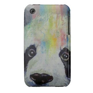 Arco iris de la panda carcasa para iPhone 3