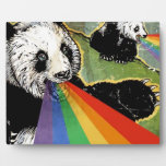 arco iris de la panda placa para mostrar