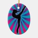 Arco iris de la parte radial del bailarín ornamentos para reyes magos