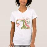 Arco iris de la paz camisetas