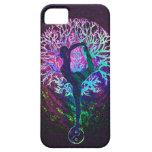Arco iris de la paz del árbol de la yoga iPhone 5 Case-Mate protector