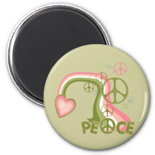 Arco iris de la paz imanes