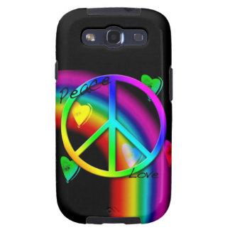 Arco iris de la paz y del amor - caja de la galaxi samsung galaxy s3 coberturas