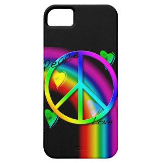 Arco iris de la paz y del amor - caso del iPhone 5 Funda Para iPhone SE/5/5s