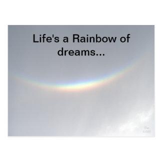 Arco iris de la postal sonriente del arco iris de
