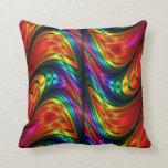 Arco iris de la seda del fractal almohada