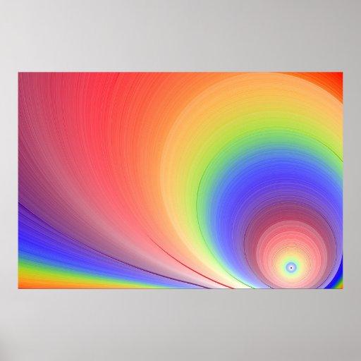 Arco iris de la sol impresiones