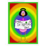 Arco iris de la tarjeta del día de St Patrick del