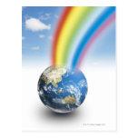 Arco iris de la tierra postales