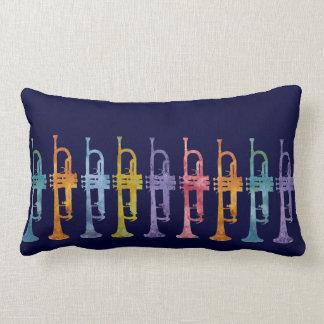 Arco iris de la trompeta cojín