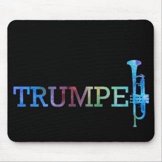 Arco iris de la trompeta tapete de ratones