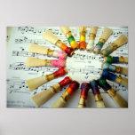 Arco iris de lámina del Bassoon Poster
