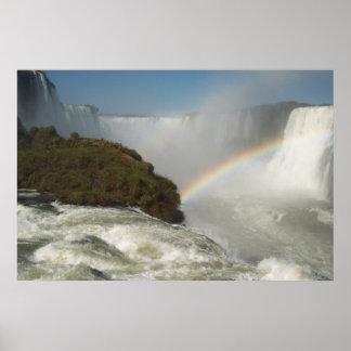 Arco iris de las cataratas del Iguazú Posters