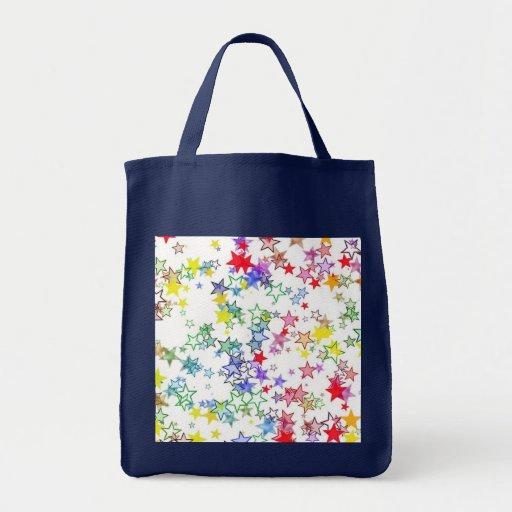 Arco iris de las estrellas de los colores bolsa de mano