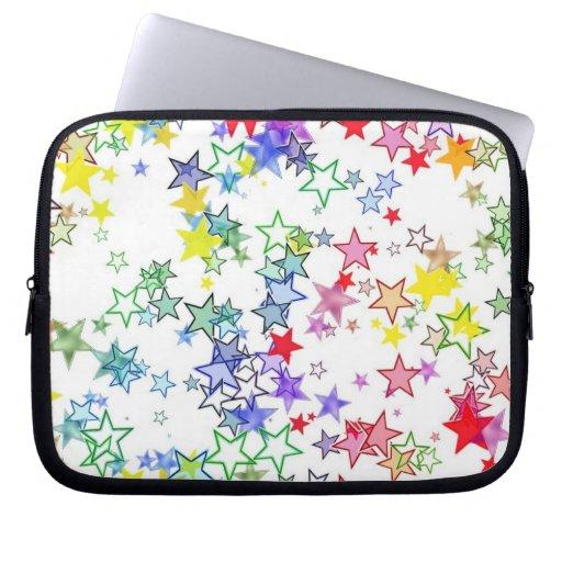 Arco iris de las estrellas de los colores fundas ordendadores