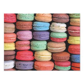 Arco iris de las galletas apiladas de Macaron del Fotografías