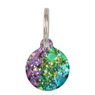 Arco iris de las gotas del arte placas de mascota