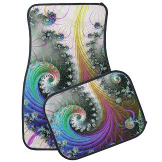 Arco iris de las gravedades alfombrilla de auto