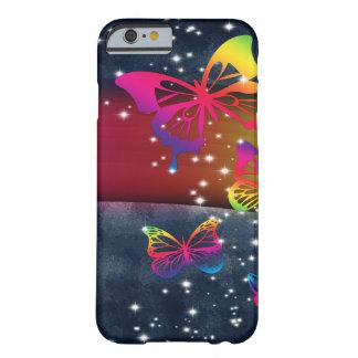 Arco iris de las mariposas n funda de iPhone 6 barely there