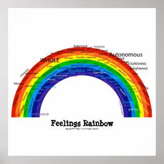 Arco iris de las sensaciones póster