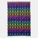 Arco iris de las toallas de cocina de los puntos