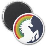 arco iris de los años 80 e imán retros del unicorn