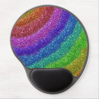 Arco iris de los brillos alfombrillas de ratón con gel