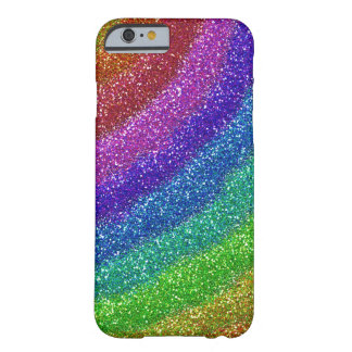 Arco iris de los brillos funda para iPhone 6 barely there