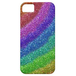 Arco iris de los brillos iPhone 5 protector