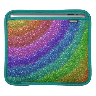 Arco iris de los brillos funda para iPads