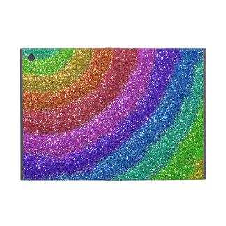 Arco iris de los brillos iPad mini fundas