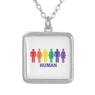 ARCO IRIS DE LOS DERECHOS DE LOS HOMOSEXUALES DE COLGANTE CUADRADO
