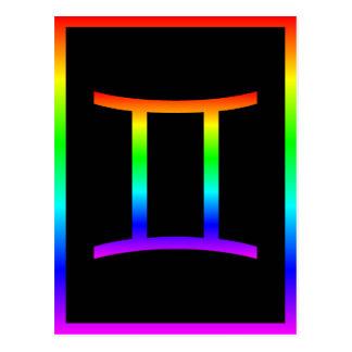 Arco iris de los géminis postal