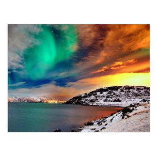 Arco iris de luces postal