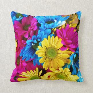 Arco iris de margaritas cojín