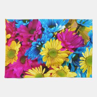 Arco iris de margaritas toalla