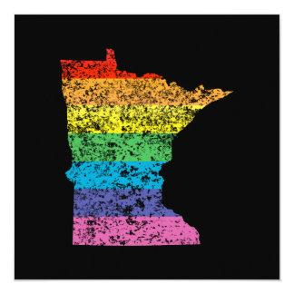 """arco iris de Minnesota Invitación 5.25"""" X 5.25"""""""
