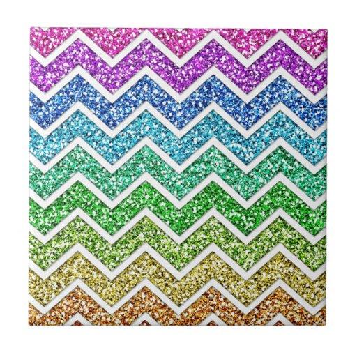 Arco iris de moda fresco impresionante del modelo  azulejo cuadrado pequeño