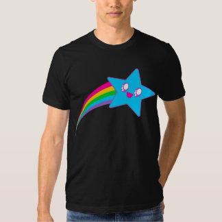 Arco iris de neón de la estrella del delirio de camisas