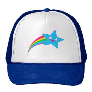 Arco iris de neón de la estrella del delirio de Ka Gorras
