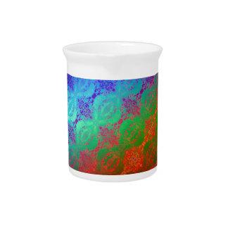 Arco iris de neón jarras para bebida