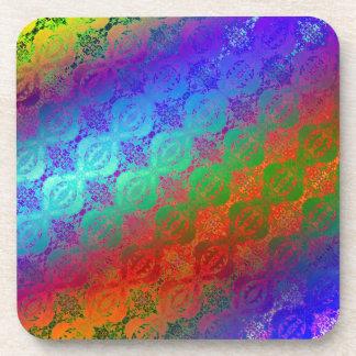 Arco iris de neón posavasos de bebidas