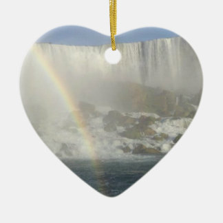 Arco iris de Niagara Falls Adorno De Cerámica En Forma De Corazón